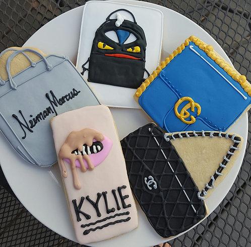 Shopping bag cookies, make-up cookies, backpack cookies