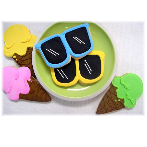 Ice cream cone cookies, sunglass cookies, sunglasses cookies Los Angeles, ice cream cone cookies Los Angeles