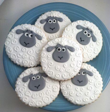 Lamb cookies, sheep cookies, sheep baby shower cookies, lamb party cookies