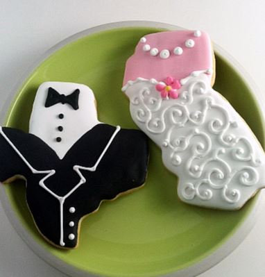 Texas cookies, California cookies, Cookies shaped like state cookies, bride and groom cookies, wedding cookies