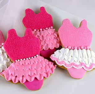 Tutu party cookies, ballerina cookies, pink party cookies, tutu party favor cookies