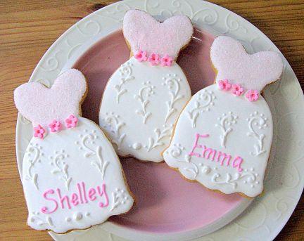 bridesmaid cookies, dress cookies, wedding shower cookies, bridesmaid cookies Los Angeles