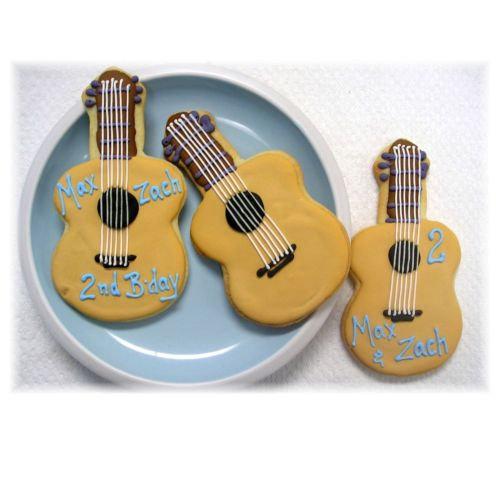 Acoustic guitar cookie, guitar cookie, guitar cookie Los Angeles