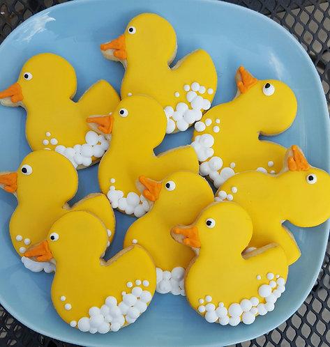 Rubber duck cookies, baby shower cookies, duck cookies Los Angeles, rubber duck cookies Los Angeles