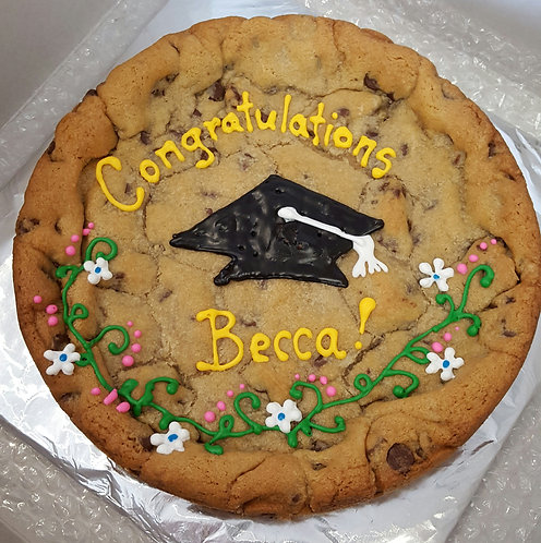 Chocolate chip cookie cake Los Angeles, graduation cookie cake, graduation cookie cake Los Angeles