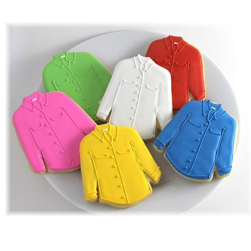 shirt cookies, shirt cookies Los Angeles, custom cookie cutter cookies, custom cookie cutters Los Angeles
