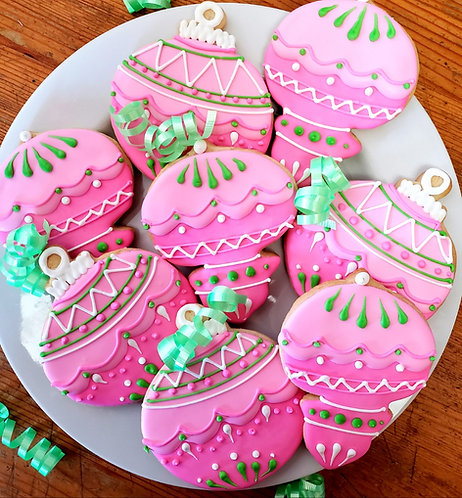Christmas cookies LA, Hand decorated holiday cookies, Ornament cookies, sugar cookies LA