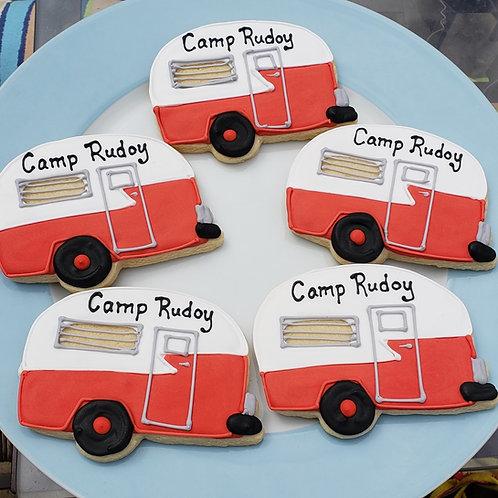 Custom camper cookie, trailer cookie, vintage trailer cookie