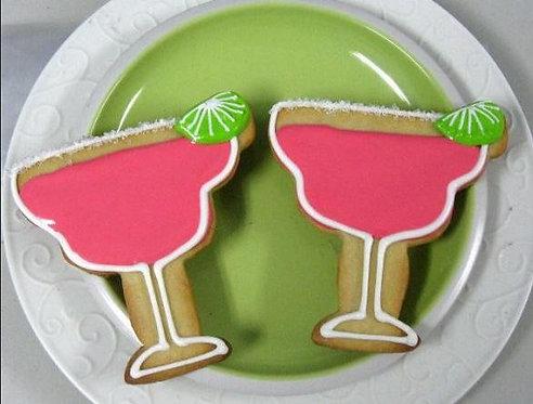 Margarita shaped cookie, margarita glass cookie, Margarita party favors
