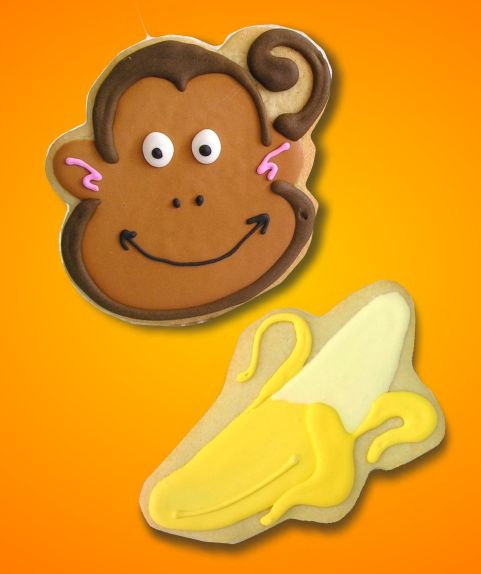 Monkey cookies, custom monkey cookies, monkey cookies Los Angeles