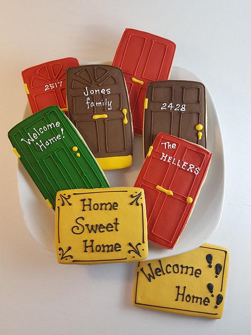 Door cookies, doormat cookies, welcome home cookies, new home cookies, door cookies Los Angeles