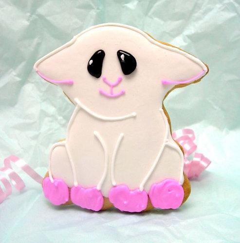 baby shower lamb cookies, sheep cookie, farm animal cookies, lamb cookies Los Angeles