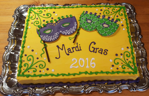 Mardi Gras Cake Los Angeles Custom Cakes Half Sheet