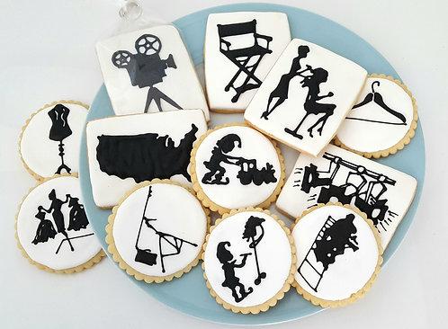 Silhouette cookies Los Angeles, custom silhouette cookies