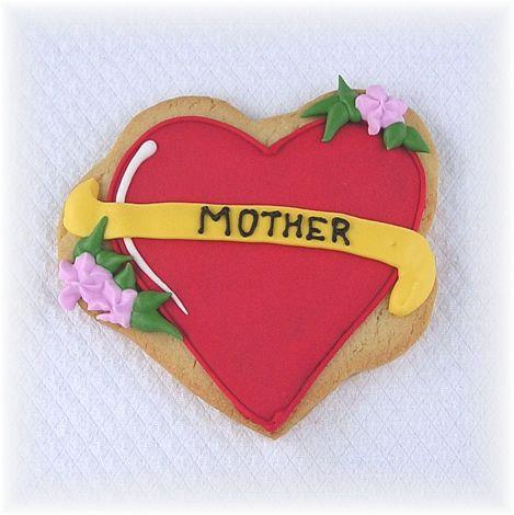 Mother's Day cookies, Mother's Day cookies Los Angeles, Heart tattoo cookie, heart tattoo cookie LA