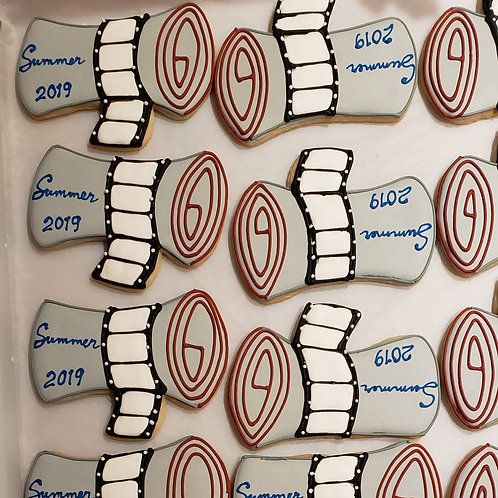 Custom Graduation scroll cookie