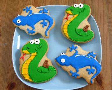 Lizard cookies, snake cookies, snake cookies Los Angeles, Geko cookies, reptile cookies, reptile cookies Los Angeles