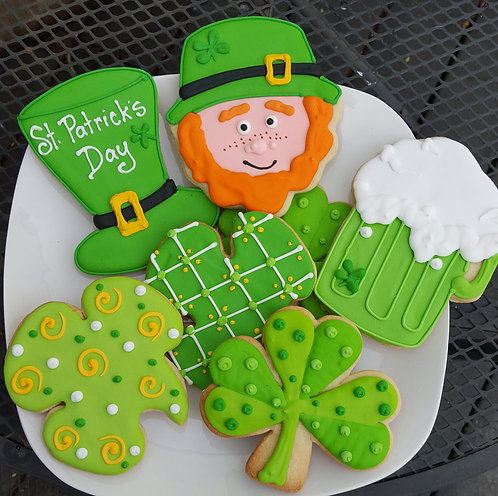 St. Patrick's day cookies, green beer cookies, Leprechaun cookies, Leprechaun cookies Los Angeles, St. Patty's day cookies