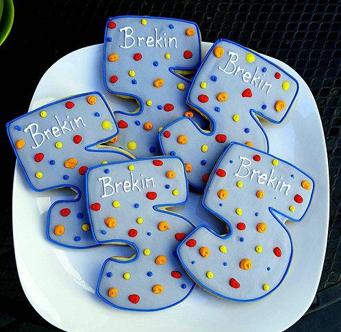 Number 5 cookies, Number five cookies, climbing wall cookies, climbing wall cookies Los Angeles