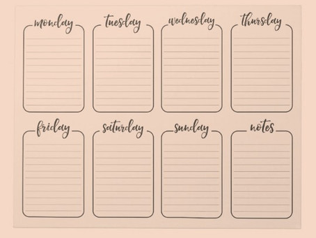 A Weekly Schedule is a Game-Changer