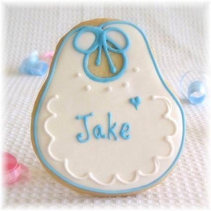 Baby bib cookies, baby shower cookies, baby shower cookies Los Angeles