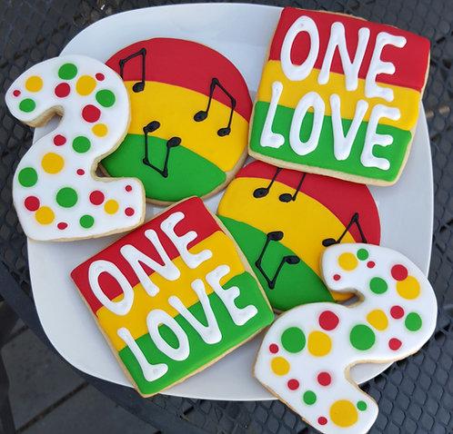 Reggae cookies, One Love, One Love cookies, One Love cookies Los Angeles