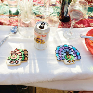 Thanksgiving coloring and coctail party