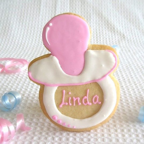 Pacifier cookies Los Angeles, baby shower cookies, baby shower cookies Los Angeles