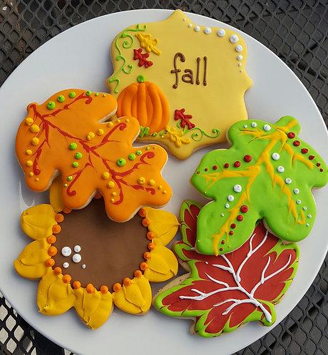 leaf cookies, leaf cookies Los Angeles, sunflower cookies, autumn cookies, fall cookies