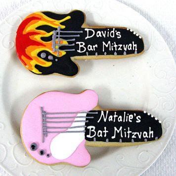 guitar cookies, flaming guitar, electric guitar cookies Los Angeles, musical cookies, guitars