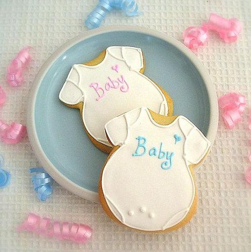 Baby onesie cookie, baby shower cookies, custom onsie cookie Los Angeles