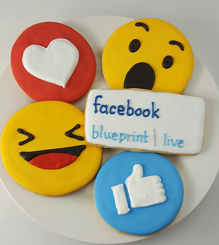 Reaction cookies, emoji cookies, emoji cookies Los Angeles