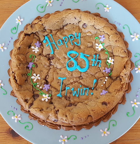 Cookie cake, Chocolate chip cookie cake, personalized cookie cake