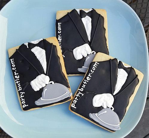 Butler cookies, custom logo cookies, custom company cookies Los Angeles