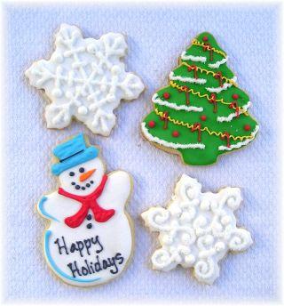 Christmas tree cookies, snowman cookies, snowflake cookies, Christmas cookies, Christmas cookies Los Angeles