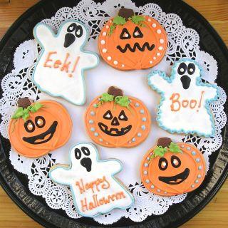 Halloween cookies, Ghost cookies, Pumpkin cookies, ghost cookies Los Angeles, pumpkin cookies Los Angeles