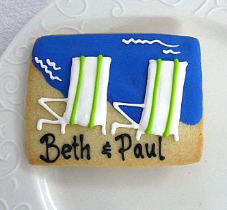 beach chairs, beach chair cookies Los Angeles, wedding shower cookies, wedding shower cookies LA