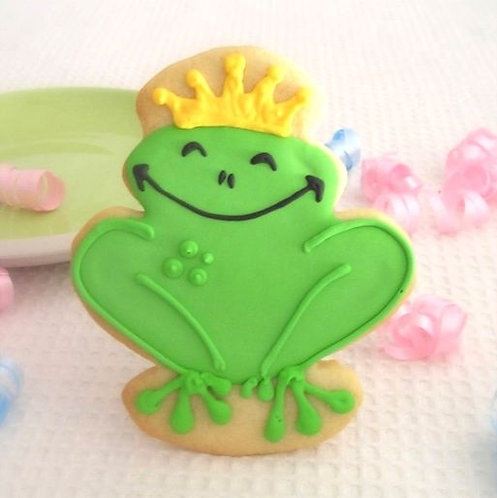 frog prince cookie Los Angeles, frog prince, frog cookies, frog prince party favors,