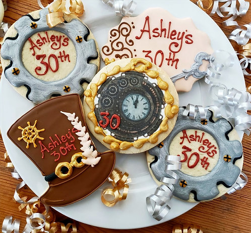 Steampunk, Steampunk cookies Los Angeles, Top hat cookies, clock cookies, gear cookies, Steampunk rules
