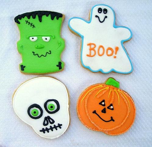 Frankenstein cookies, Frankie cookies, skull cookies, Halloween cookies, Halloween cookies Los Angeles