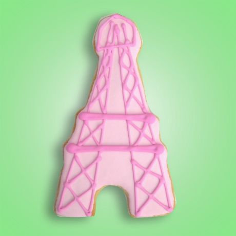 Eiffel tower cookies, Paris cookies, French themed party cookies, Eiffel tower
