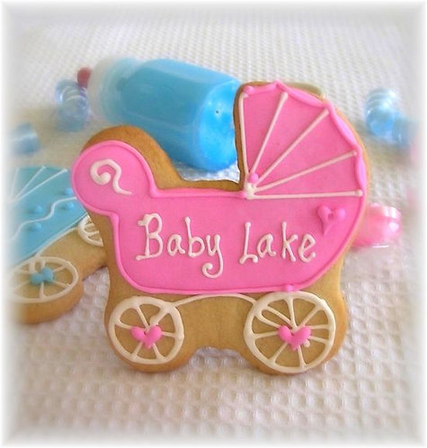 baby buggy cookies, baby shower cookies, carriage cookies, baby carriage Los Angeles