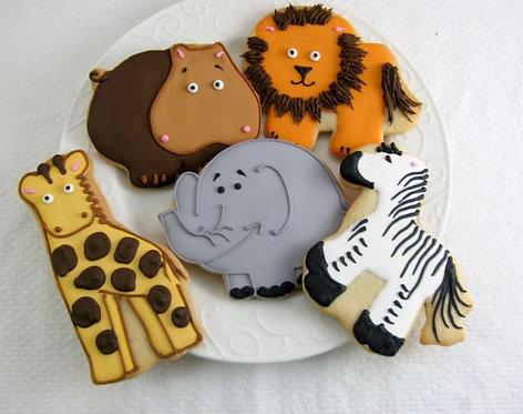 Lion cookies, zebra cookies, elephant cookies, hippo cookies, giraffe cookies, animal cookies, wild animal cookies Los Angele