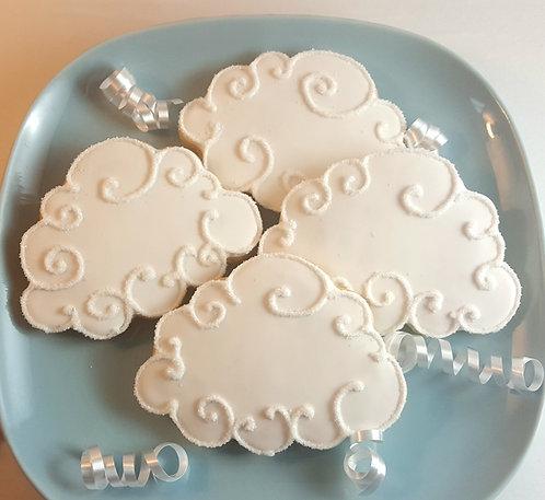 cloud sugar cookies, cloud cookies Los Angeles, weather related cookies