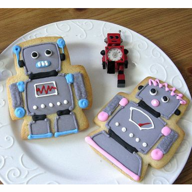 Robot cookies, transformer cookies, robot party cookies, kids robot party favors