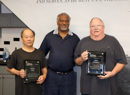 Jeff Harris and Wing Van Honored in Retirement