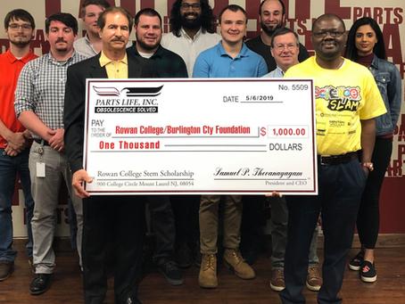 STEM Initiative: Parts Life, Inc. Donates Stem Scholarships at Rowan College at Burlington County