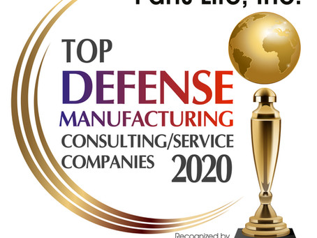 Aerospace & Defense Review Names Parts Life, Inc.  2020 Top Defense Manufacturer Consultant Service