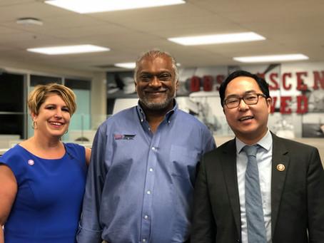 Congressman Andy Kim tours PLI Prototype Integration Facility