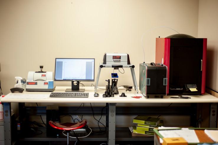 FTIR Scanner, XRF, 3D Printer
